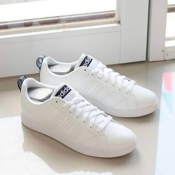 IDR 250,000 Adidas Neo Advantage White Strip Navy Size 36 37 ...