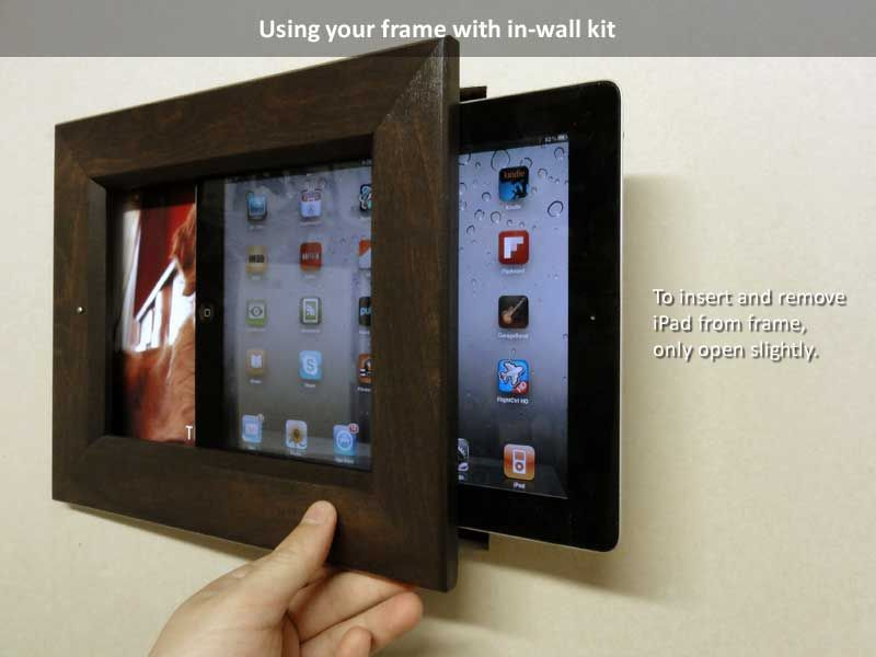 Picture Frames For Ipad Insert Your Ipad In Frame Open Frame Slightly And Slide In Your Ipad Wall Frames Diy Digital Picture Frame Picture Frame Wall