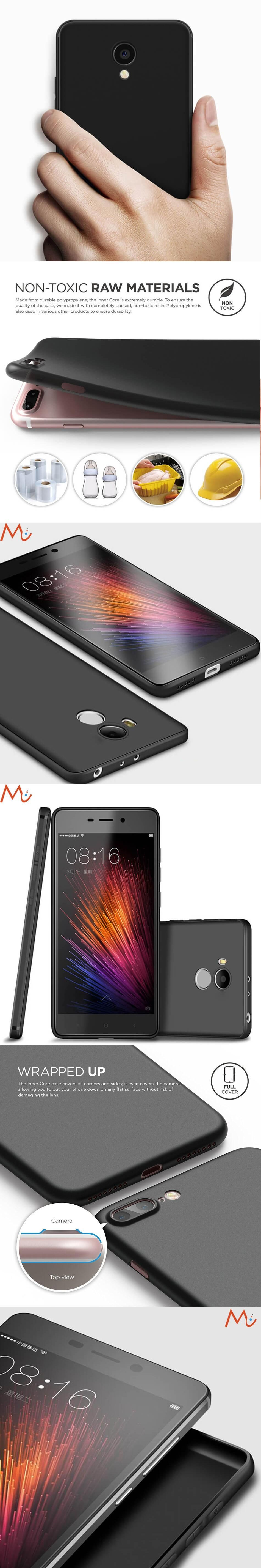Luxury Thin Case For Xiaomi Redmi 4 Pro Black Matte Soft TPU Silicone Back Cover For
