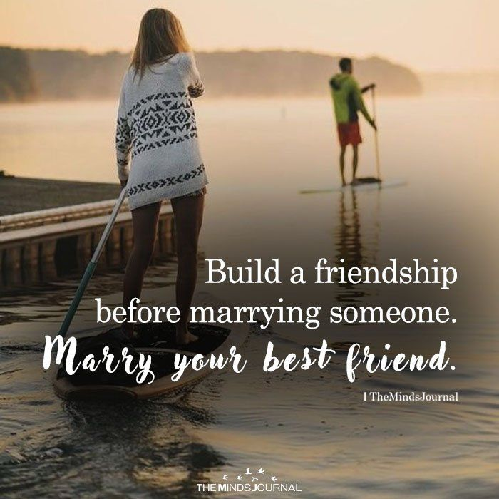 Building a friendship before dating