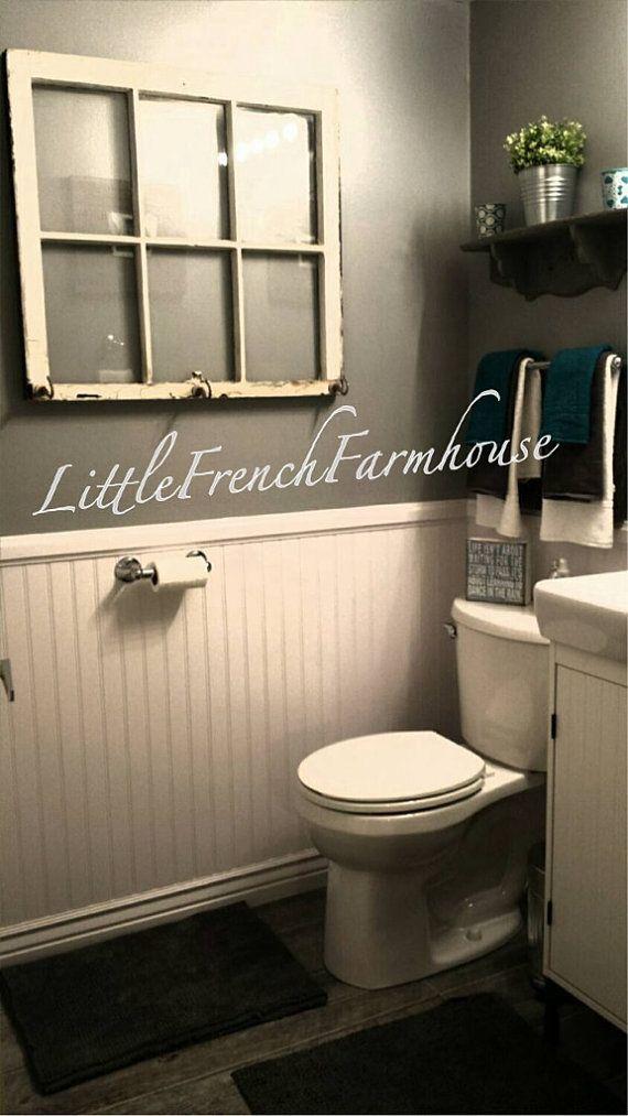 Chippy old windows available from mylilfrenchfarmhouse for French farmhouse bathroom ideas