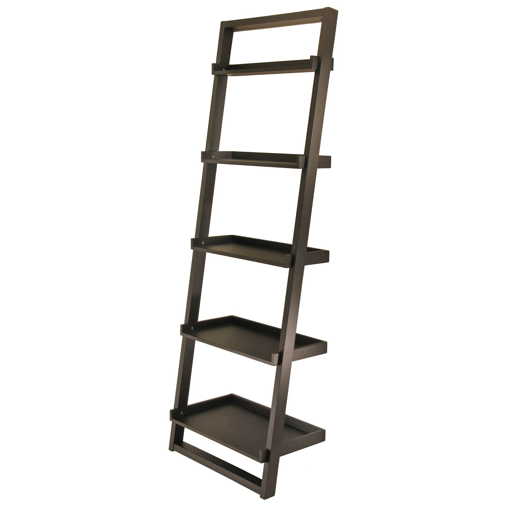 Bailey leaning shelf tier tier black winsome products