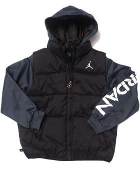 37d4cb2c90028a Love this JORDAN PUFFER VEST TWOFER JACKET (8-20) by Air ... on DrJays.  Take a look and get 20% off your next order!