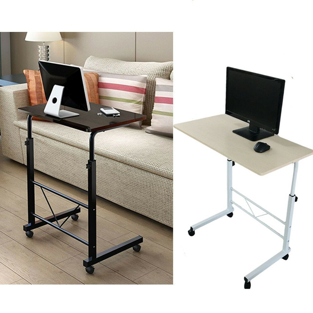 Portable/Rolling Desk Laptop Table Stand Height Adjustable