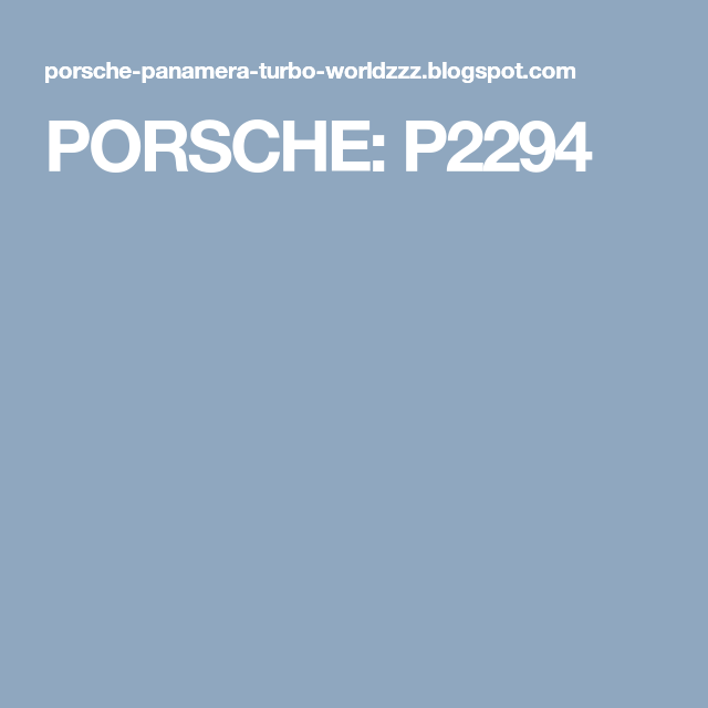 Porsche Panamera Turbo, Porsche Panamera