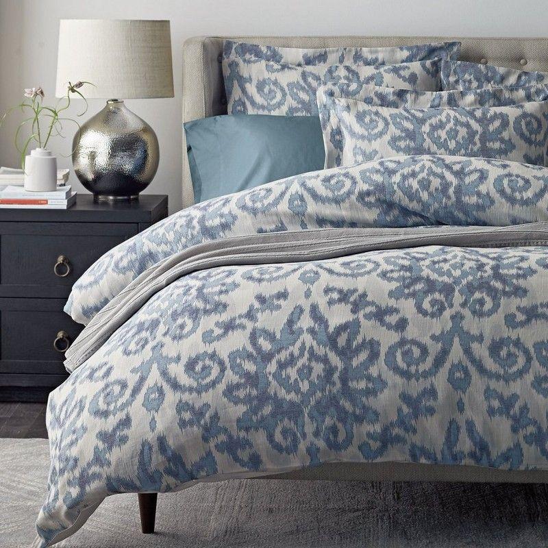 Kasuri Cotton Linen Duvet Cover Inspired By Centuries Old