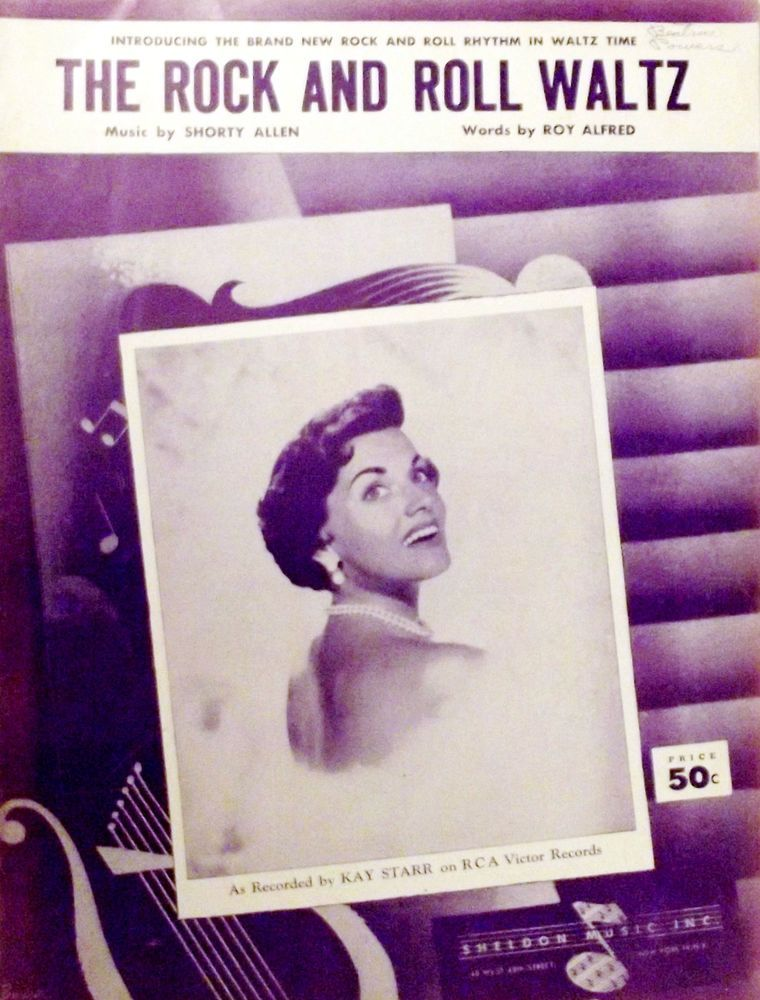 """Kay Starr's """"Rock and Roll Waltz""""  Sheet Music for 1955 Hit Song on RCA Records"""