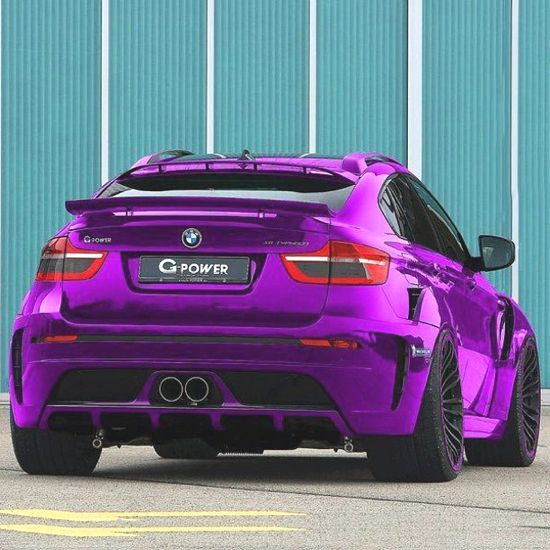 Bmw X6 Tuning: §Chrome With Transparent Colour