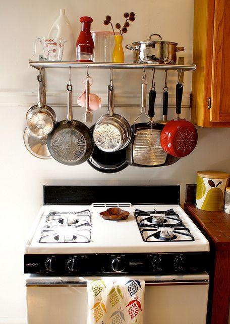 Front Shot Of Ikea Grundle Rack Above Stove Apartment Kitchen Kitchen Interior