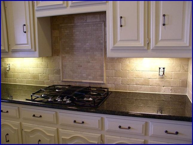 Kitchen Tile Backsplash Ideas With Uba Tuba Granite Countertops