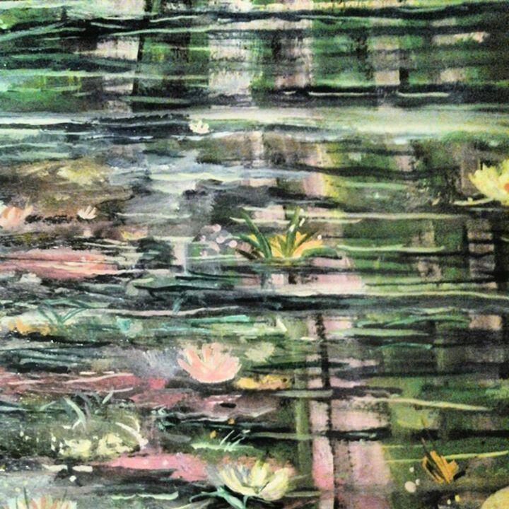 """#FineArtByTuckerDemps , """"Garden"""" Series, original, oil on paper, 9x11."""