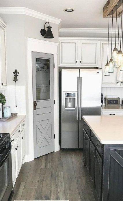 #kitchen #farmhouse #kitchenfixtures #lighting #22+ #ikeagalleykitchen