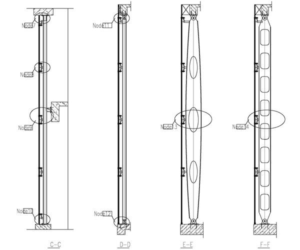 Structural Fencing Fittings : Steel structure design with spider fitting glass