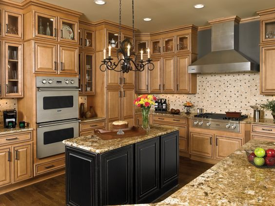Maple Cabinets Mismatched Island   Google Search
