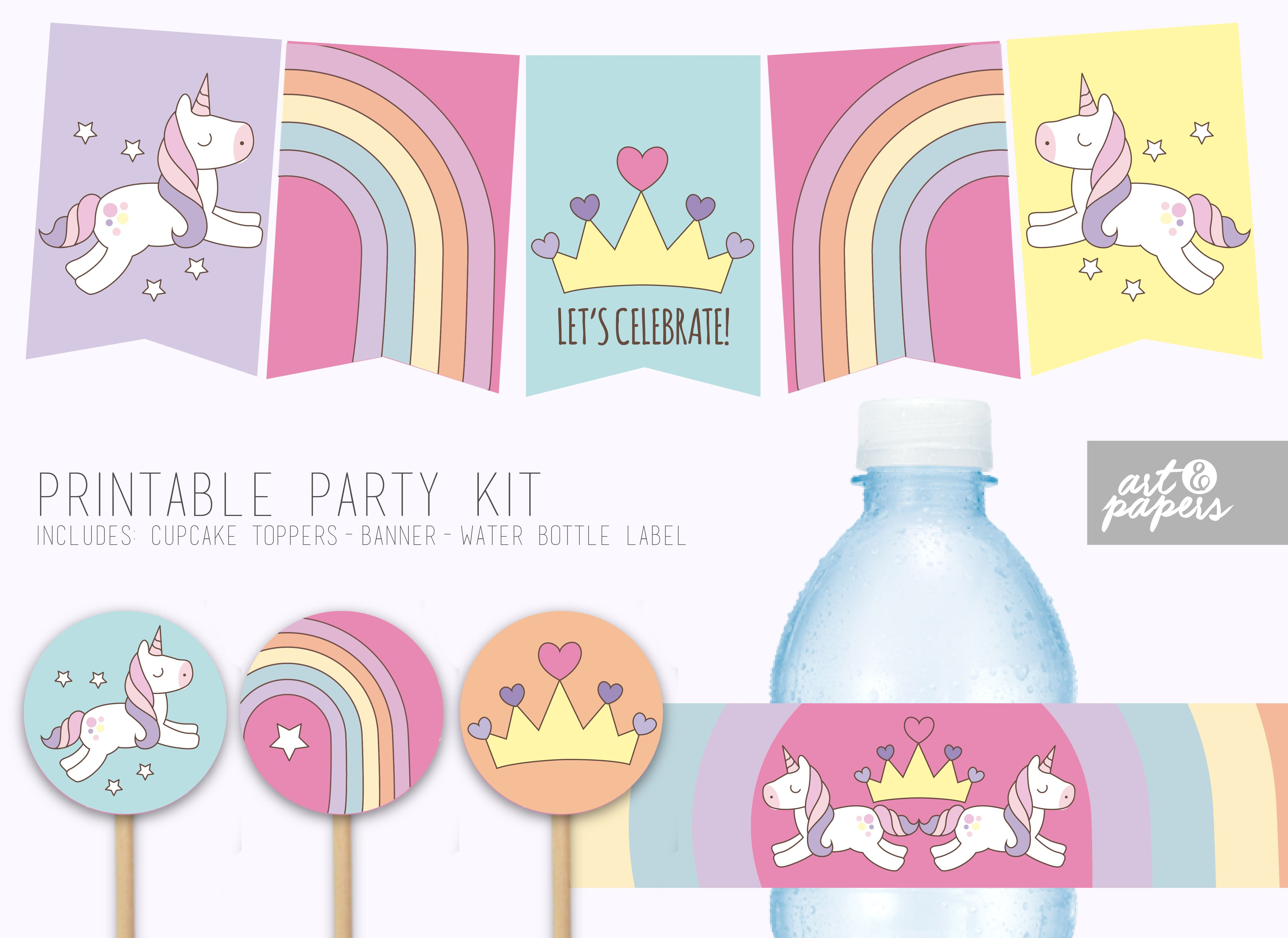 Printable Party kit Party Decor Baby Shower Birthday Party