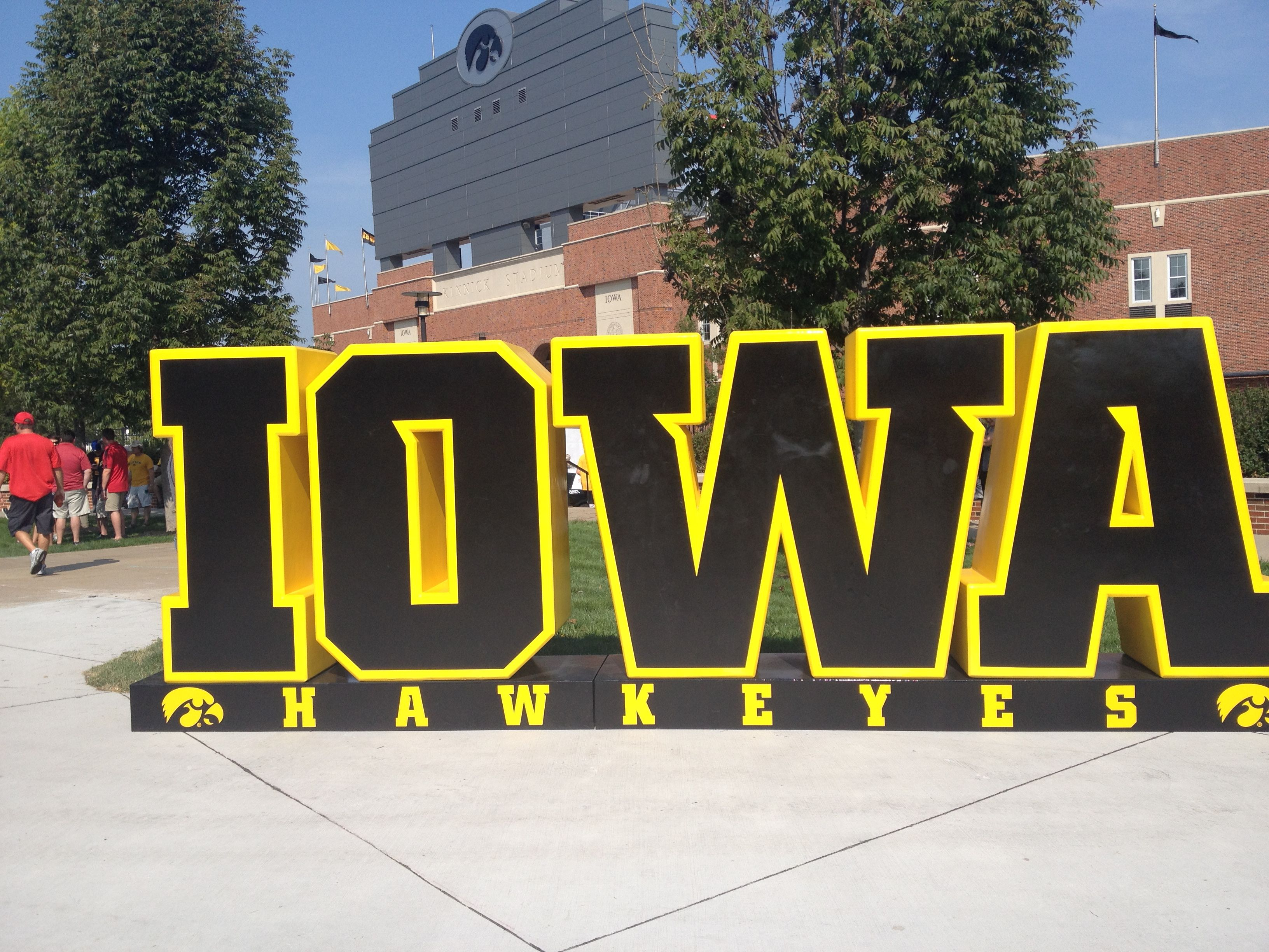 New Welcome To Kinnick Sign Iowa