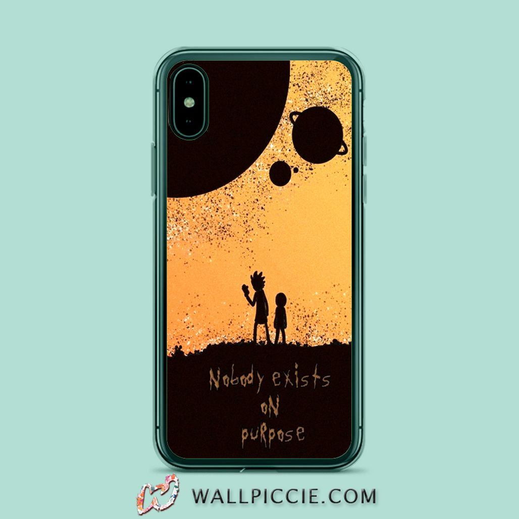 Rick morty quote nobody exists on purpose iphone xr case