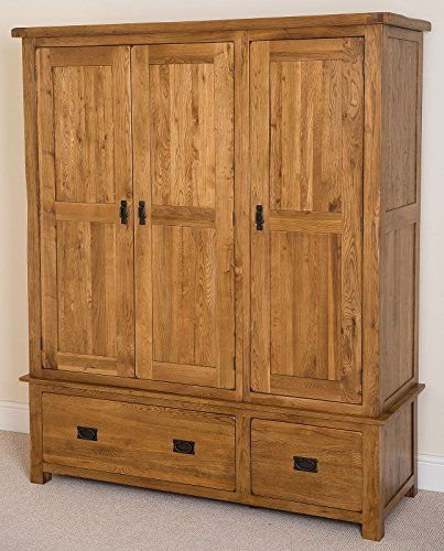 Cotswold 100 Solid Oak Triple Wardrobe New And Used Oak Furniture At Great Prices Oak Wardrobe Triple Wardrobe Solid Oak