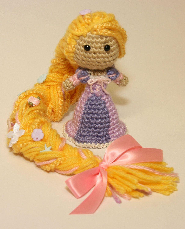 Amigurumi Disney Free : PATTERN Rapunzel Tangled Disney Princess Crochet Doll ...