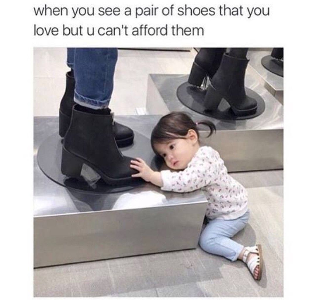 NiHH Humor - You know...those #shoes you love but cant afford.