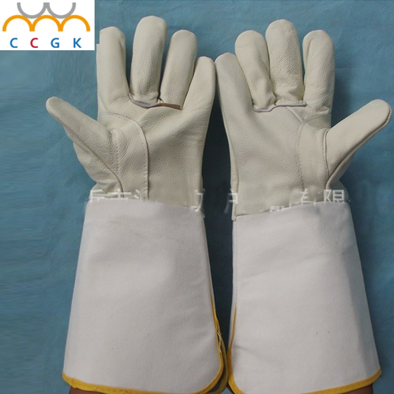 13.94$  Watch here - http://ali0rr.shopchina.info/go.php?t=32783519929 - leather welding gloves  CIG MIG TIG 37cm long Prevent burns breath able insulation wear non-slip Anti-skid wear Welding gloves 13.94$ #magazineonline