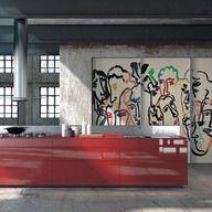Kitchen cabinet - Artematica Vitrum Arte / Valcucine