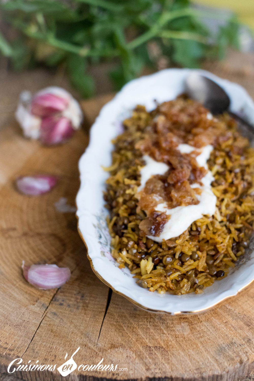 Mujadarra, le riz aux lentilles à la libanaise   Recette ...