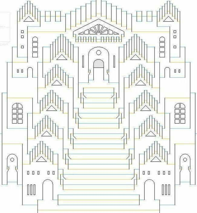 Pin By Xino Wermed On Kirigami Origami Et Autre Art Creatif Origami Architecture Kirigami Templates Paper Pop