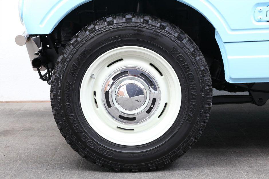 ジムニー Ja22w カスタム no 450 オリジナルライトブルー ブロンコ風 ツートン Ver ジムニー専門店jimnyland ジムニーランド ジムニー ランドローバーディフェンダー ディフェンダー