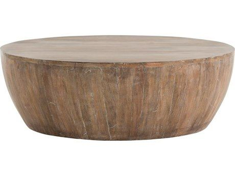 Arteriors Home Jacob Washed Tobacco 35 5 Round Coffee Table