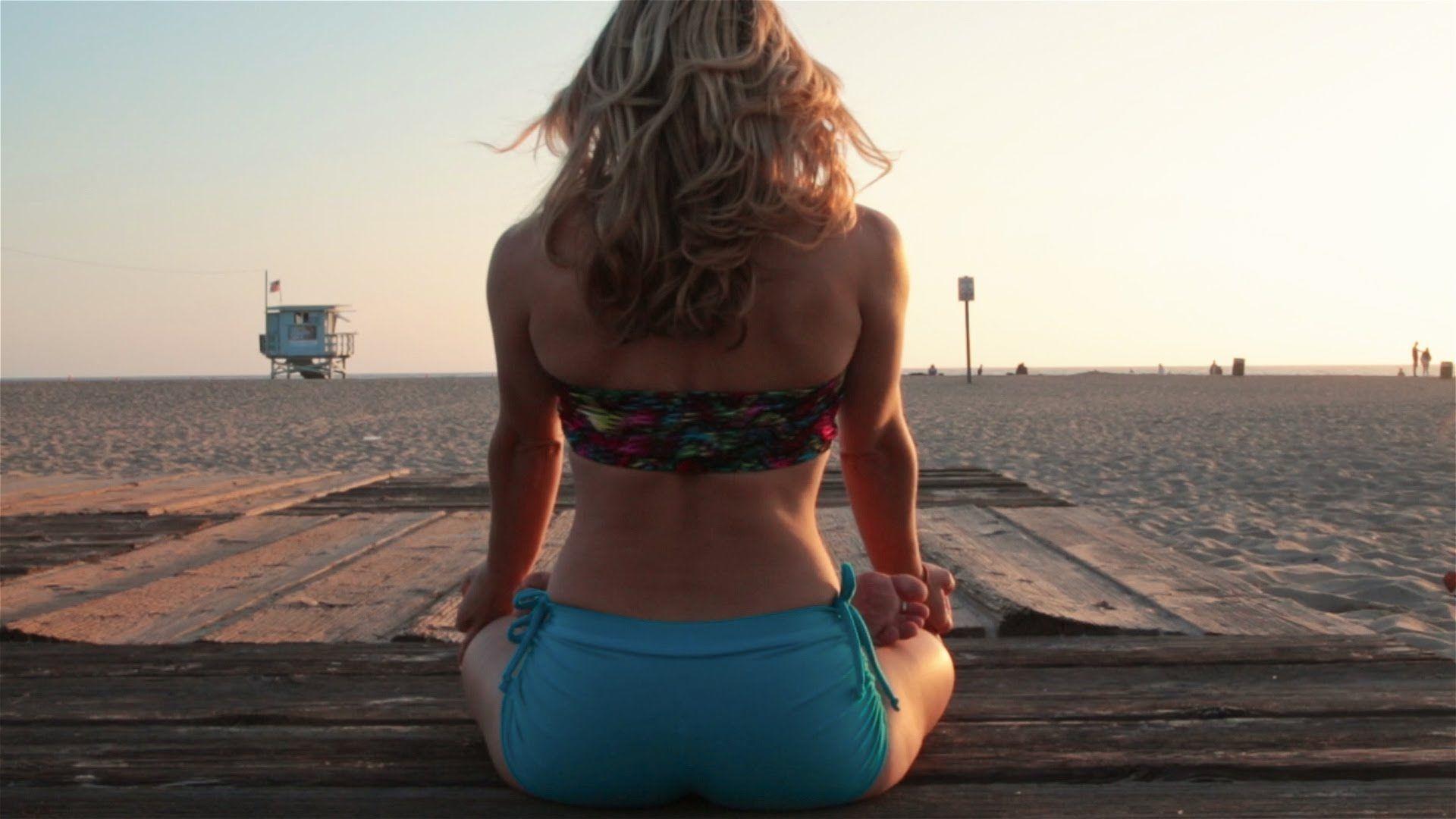 Beach Yoga Sunset Improv Flow With Kino Santa Monica California