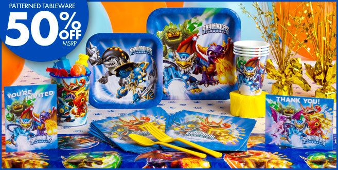 Our selection of Skylanders themed party supplies provides you with everything you need for a memorable party in this fun Skylanders themed. Skylanders is a popular video game that incorporates a unique style of gameplay, with action figures interacting with the video game.