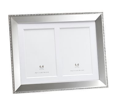 Beaded Silver-Plated Multiple Opening Picture Frame, 8 x 10 ...