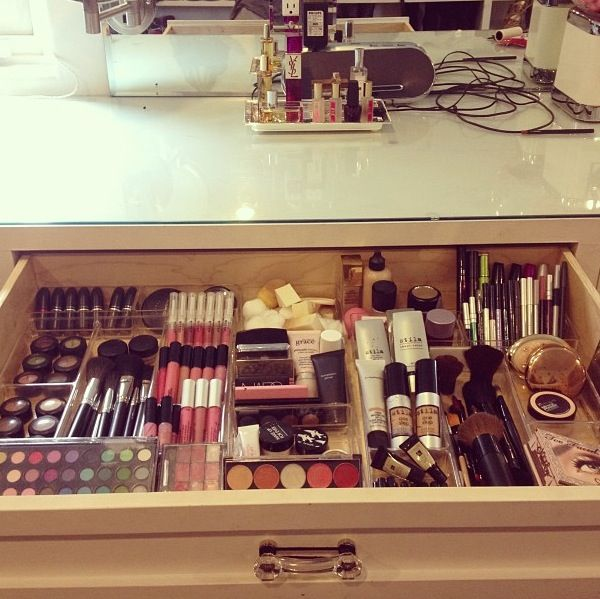 DIY makeup organizer. This is what my draw should look like..