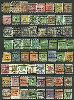 US Stamp Collection Of 62- mix 2¢ old Postage Due, Houston Texas Pre-Cancel