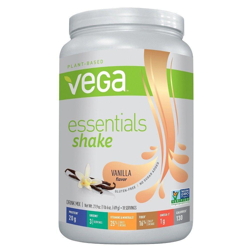 Vega Essentials Vegan Nutritional Shake Powder Vanilla 21 9oz Nutrition Shakes Vanilla Shake Good Smoothies