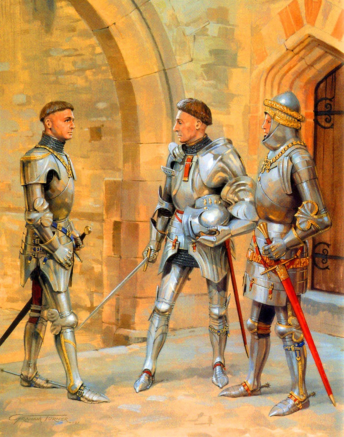 Sir John Cressy With Lord Bardolf And Richard Beauchamp
