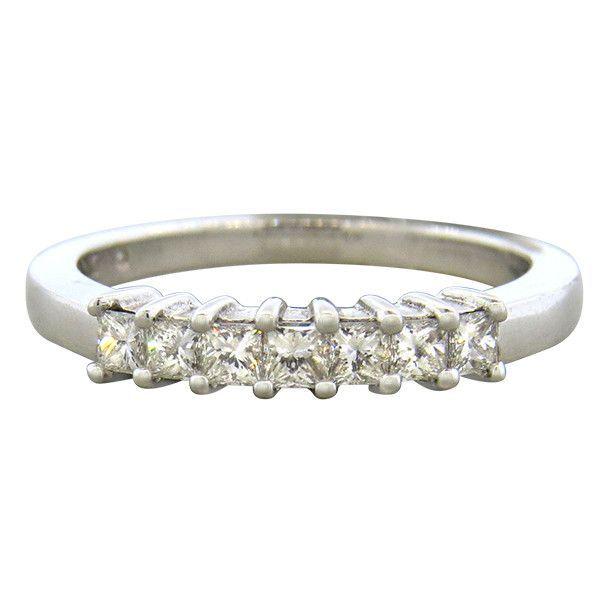14K Gold 0.48ctw Princess Cut Diamond Wedding Band Ring