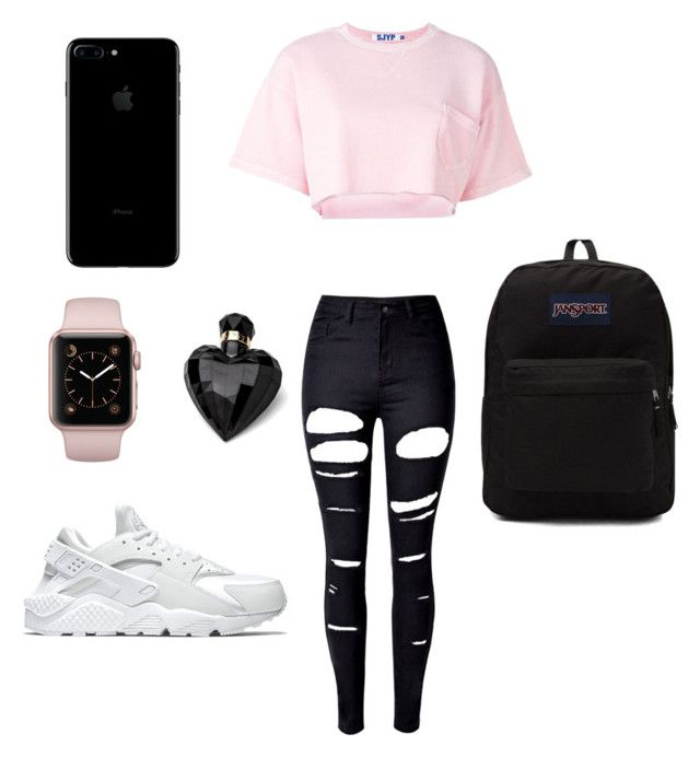 """School 🌬"" by ximenaordonez9 on Polyvore featuring WithChic, Steve J & Yoni P, NIKE, Lipsy and JanSport"
