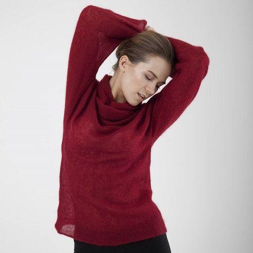 Tibetian red sweater