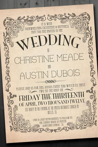 21 Vintage Wedding Invitations Trendy Tuesday Vintage wedding