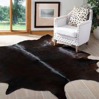 Safavieh Handmade Cow Hide Lorean Cabin Lodge Leather Rug 6 X
