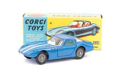 Mettoy Corgi diecast No.324 Marcos 1800GT