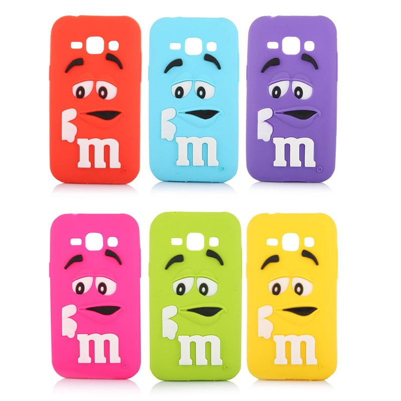2016 J1 Cute Lovely 3D Cartoon Chocolate Beans Soft Silicone Back ...