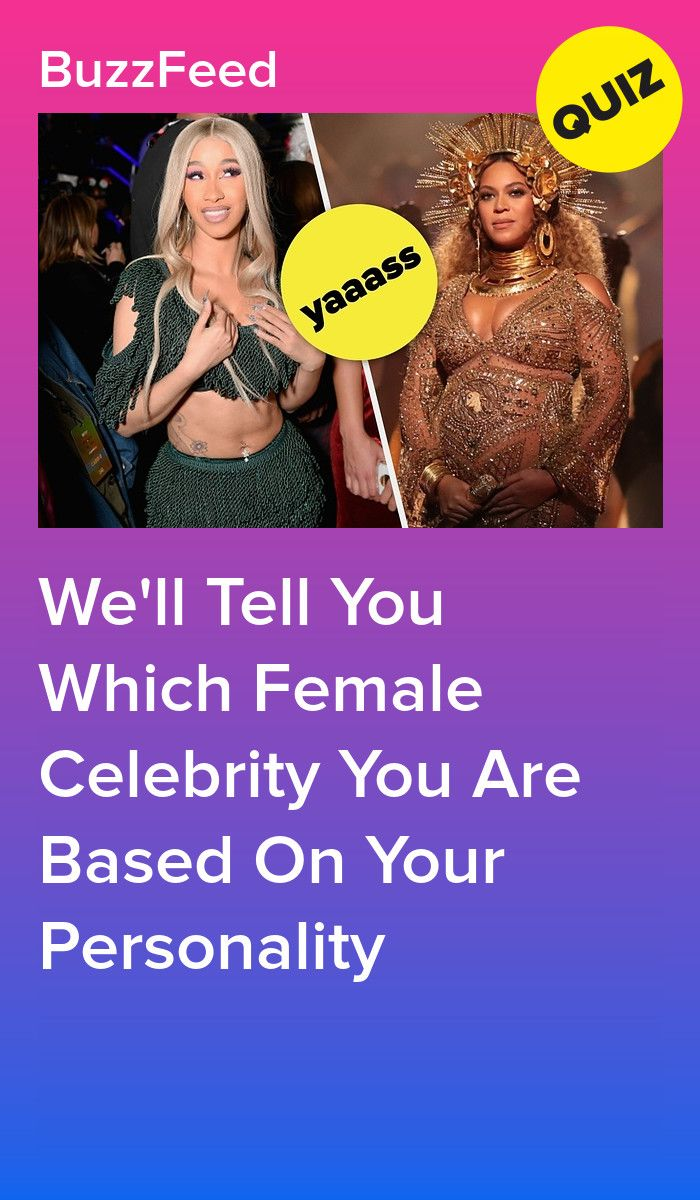 Photo of What female celebrity are you?