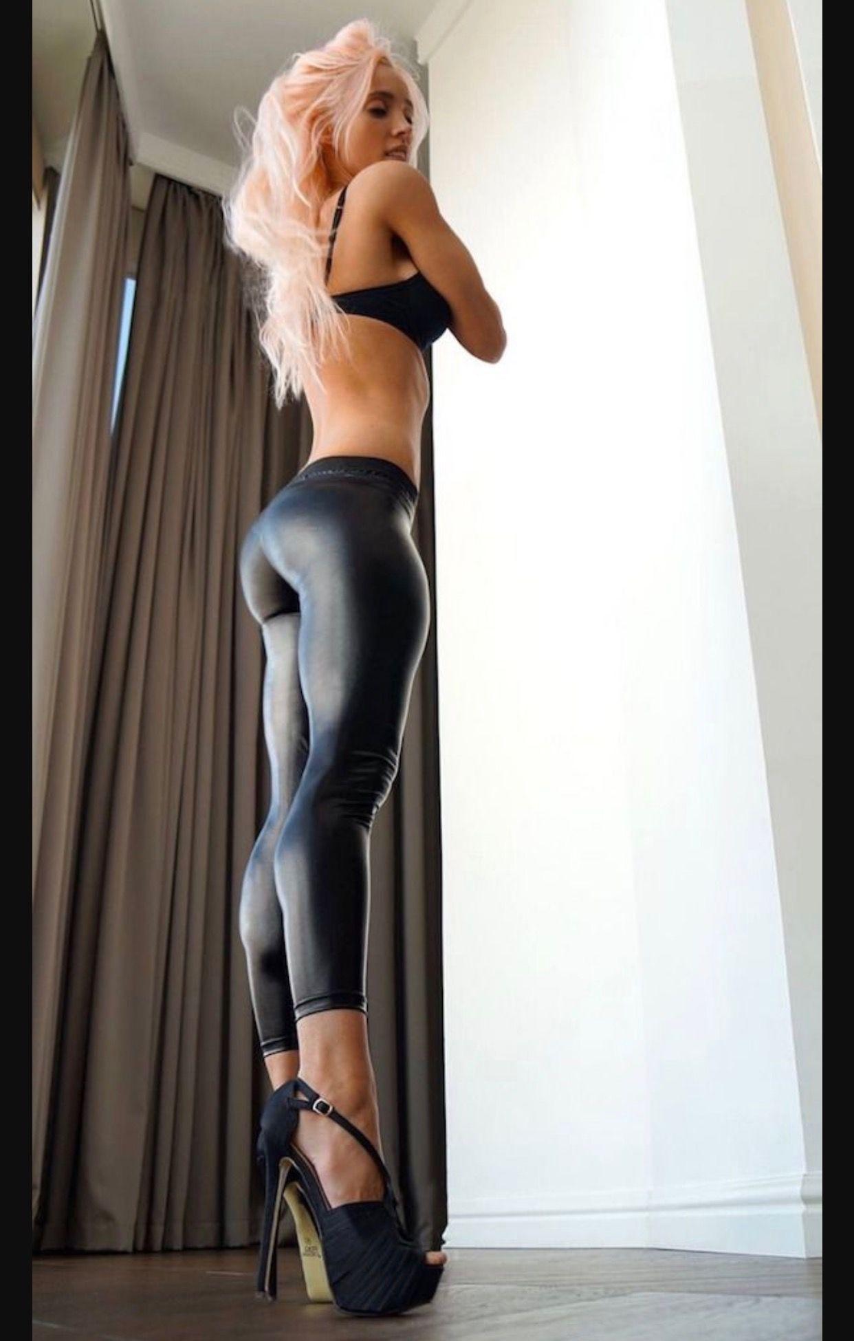 Sexy Older Women Sexy Women Fit Women Tight Leggings Shiny Leggings