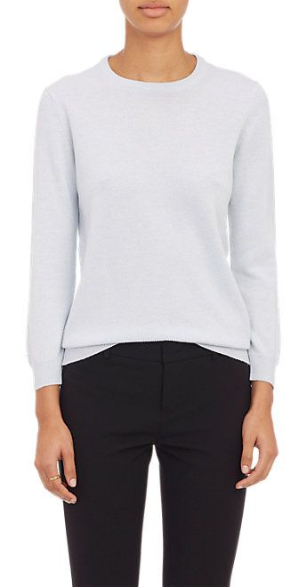Barneys New York Button-Back Sweater - Crewneck - Barneys.com