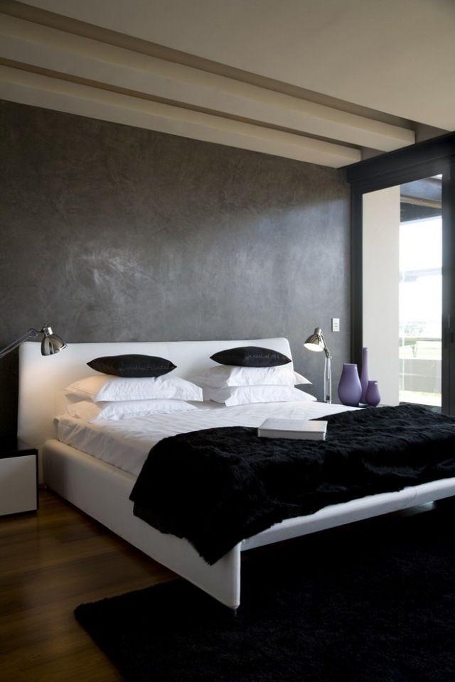 Maltechniken Farbeffekte Wand Streichen Ideen Schlafzimmer Grau