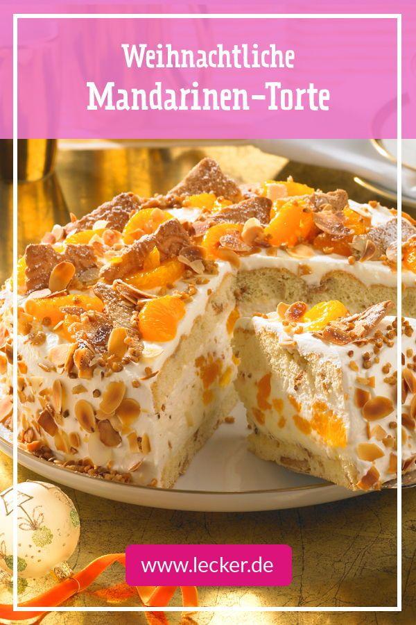 Weihnachts-Mandarinen-Torte Rezept #foodanddrink