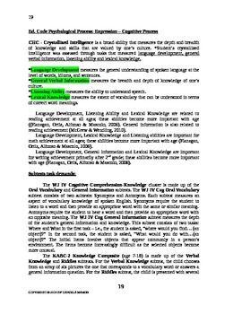 Cross Battery Assessment Xba Report Template Editable  School